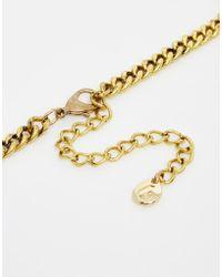 Little Mistress - Emerald Stone Collar Necklace - Lyst