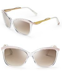 Dior Metaleyes Mirrored Cat Eye Sunglasses - Lyst