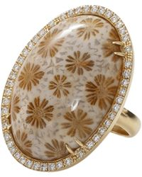 Pamela Huizenga - Fossilized Coral Ring - Lyst