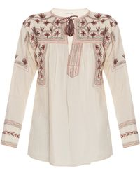 Etoile Isabel Marant Vicky Andes Embrd Ls Blouse - Lyst