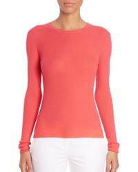 Michael Kors | Ribbed Cashmere Top | Lyst