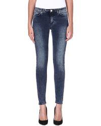 Acne Studios Skin 5 Skinny Midrise Jeans Ferra Navy - Lyst