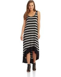 Kensie Striped Maxi Dress - Lyst