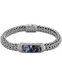 John Hardy Mens Batu Classic Chain Silver and Blue Pietersite Bracelet - Lyst