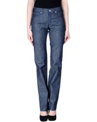 Armani Jeans Denim Trousers - Lyst