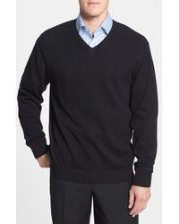 Cutter & Buck 'Broadview' Cotton V-Neck Sweater - Lyst