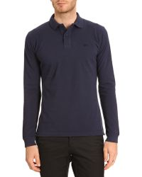 Lacoste Ml Vintage Navy Polo - Lyst