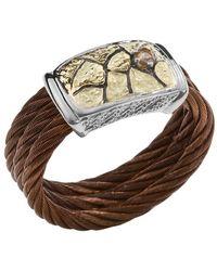 Charriol Women'S Sahara 18K Yellow Gold Bronze-Tone Steel Diamond .07Tcw Ring - Lyst