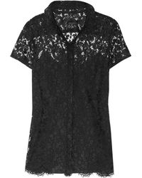 Burberry Prorsum Lace Shirt - Lyst