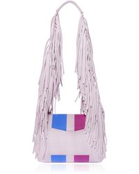 Sara Battaglia Powder Stripe Medium Teresa Shoulder Bag - Lyst