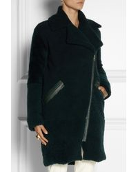 Adam Lippes Leathertrimmed Shearling Coat - Lyst