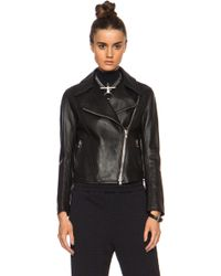 3.1 Phillip Lim Pointed Collar Moto Leather Jacket - Lyst