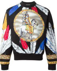 Versace Feather Print Sweatshirt - Lyst