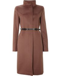 Max Mara Accorta Funnel Neck Wool Cashmere Coat - Lyst