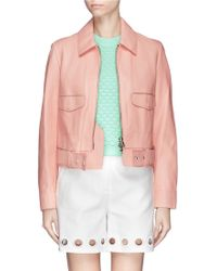 3.1 Phillip Lim Lambskin Leather Jacket - Lyst