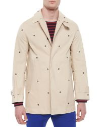 Band of Outsiders Metal Grommet-Detailed Woven Jacket - Lyst