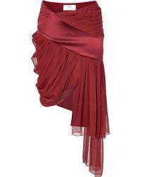 Prabal Gurung Silk Chiffon Draped Skirt - Lyst