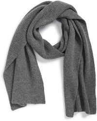 Calibrate - Seed Stitch Wool & Cashmere Knit Scarf - Lyst