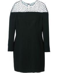 Saint Laurent Semisheer Mini Dress - Lyst