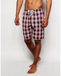 Esprit - Regular Fit Woven Shorts In Check - Lyst