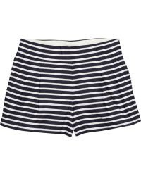 J.Crew | Striped Linen and Cottonblend Shorts | Lyst