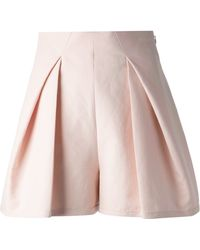 Balenciaga Pink Pleated Shorts - Lyst