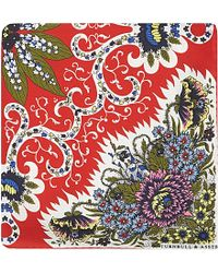Turnbull & Asser Floral Silk Pocket Square - For Men red - Lyst