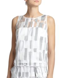 Milly Cubist Fil Coupe Tank Top white - Lyst