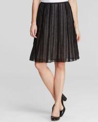 Nic + Zoe Nic+Zoe Batisse Accordion Pleat Skirt black - Lyst
