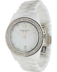 Emporio Armani White watches - Lyst