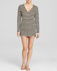 Ella Moss Cabana Hoodie Swim Cover Up Tunic Dress - Lyst