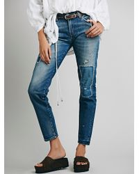 Free People 505 Customized Boyfriend Jeans - Lyst