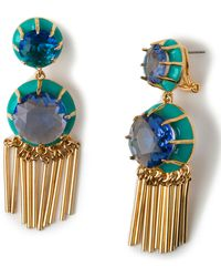 Lele Sadoughi Double-drop Crystal Fringe Earrings - Lyst
