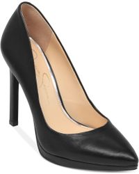 Jessica Simpson Black Brynn Pumps - Lyst