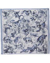 Faliero Sarti Branko Astrology Print Scarf blue - Lyst