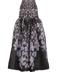 Temperley London Orchidea Printed Silkgazar Maxi Skirt - Lyst