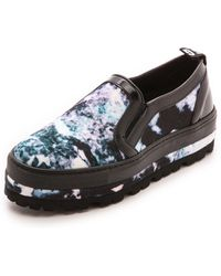 MSGM Slip On Sneakers  Marmo - Lyst