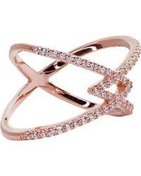 Carat* - Orion Millennium Rose Gold Finish Ring - Lyst