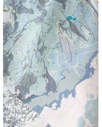 Christopher Raeburn - Meteorological Map Print T-Shirt - Lyst