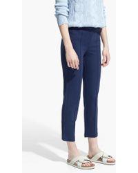 Mango Blue Ponte Trousers - Lyst
