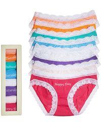 Cheek Frills Bikinis - Days Of The Week, Set Of 8 #8Kndowkmu - Lyst