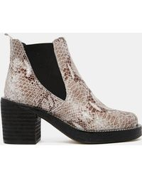 Asos Enter The Dragon Chelsea Leather Ankle Boots - Lyst