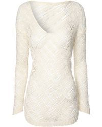 Jane Norman Loose Knit Tape Jumper - Lyst