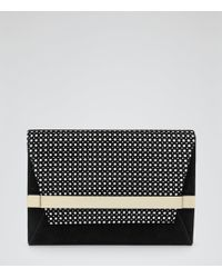 Reiss Timo Perforated Clutch Bag - Lyst