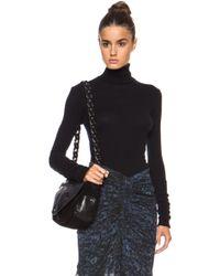 Enza Costa Cashmere Cuffed Turtleneck Cottonblend Sweater - Lyst