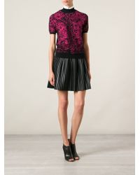 Christopher Kane Patterned Short Sleeve Sweater - Lyst
