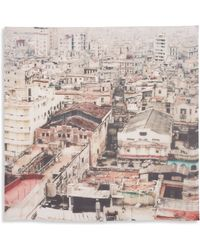 Temps Des Reves - Havana Silk Chiffon Scarf - Lyst