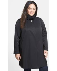 Gallery A-Line Swing Coat - Lyst