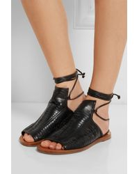 Daniele Michetti - Woven Leather Sandals - Lyst