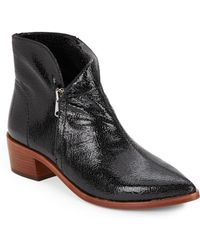 Vince Camuto Signature Reinah Patent Leather Boots - Lyst